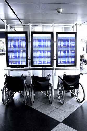 Sillas de ruedas en el aeropuerto de Munich (Foto: ISO 1987/Creative Commons)