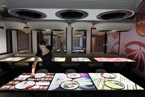 Londres, un restaurante con tecnología punta 2