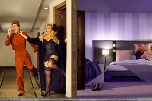 Todo es posible en la habitación de un hotel