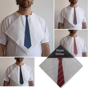 Servilleta con corbata ( Fuente:  pdm.com.co )