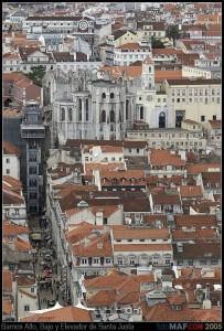 Barrio Alto, Barrio Bajo y Elevador de Santa Justa (Fuente:  picses.eu)