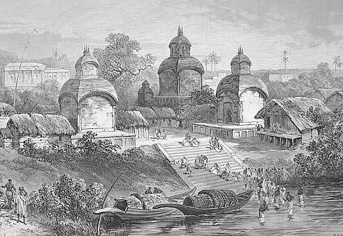 Templo Kalighat en 1887 ( Fuente: Wikipedia)