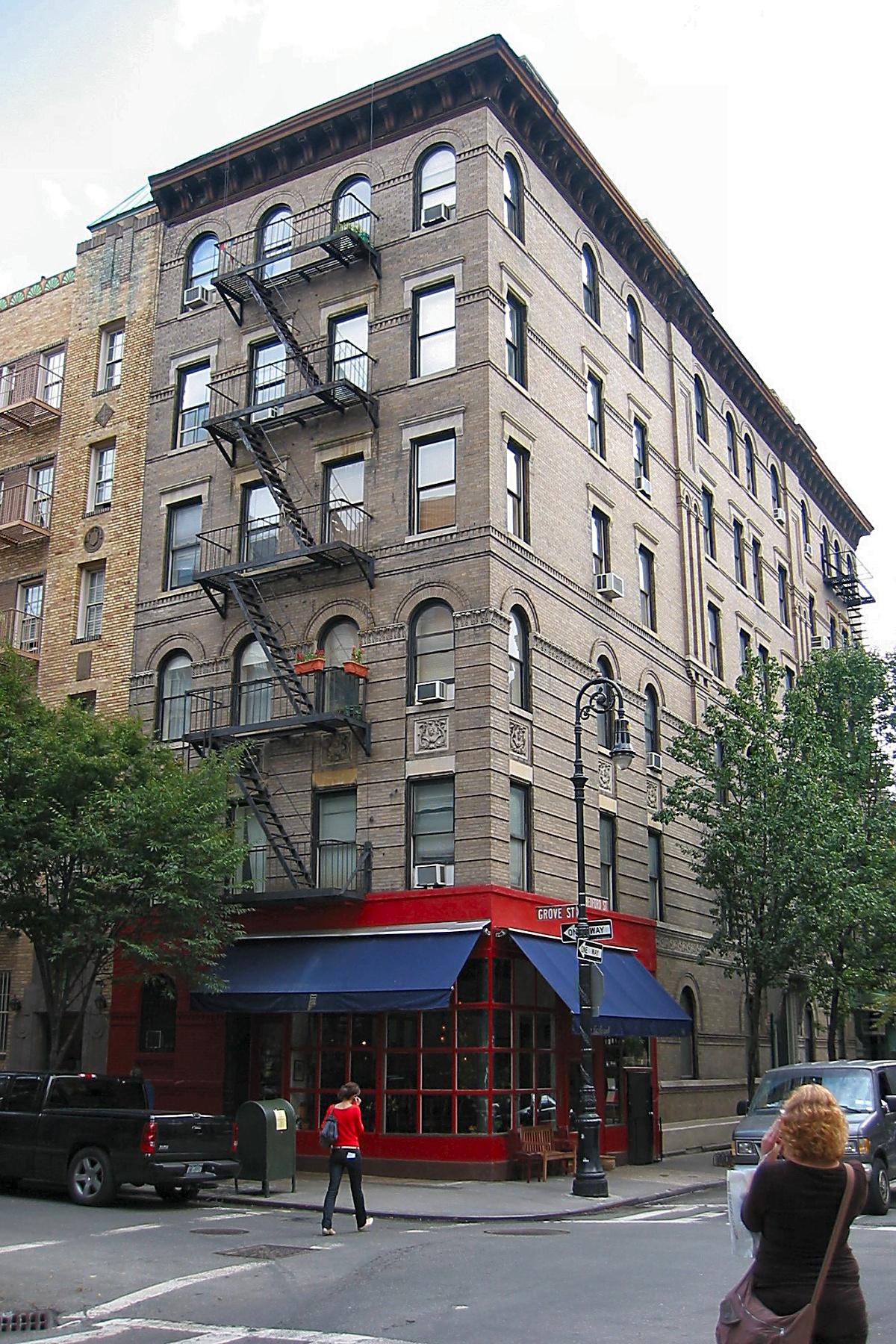 """Edificio Serie de Tv """" FRIENDS"""" (90 Bedford St. esq. con Grove St )"""