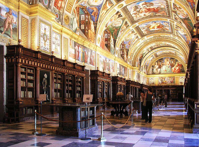 Biblioteca del Monasterio de San Lorenzo de El Escorial ( Fuente: Wikipedia )