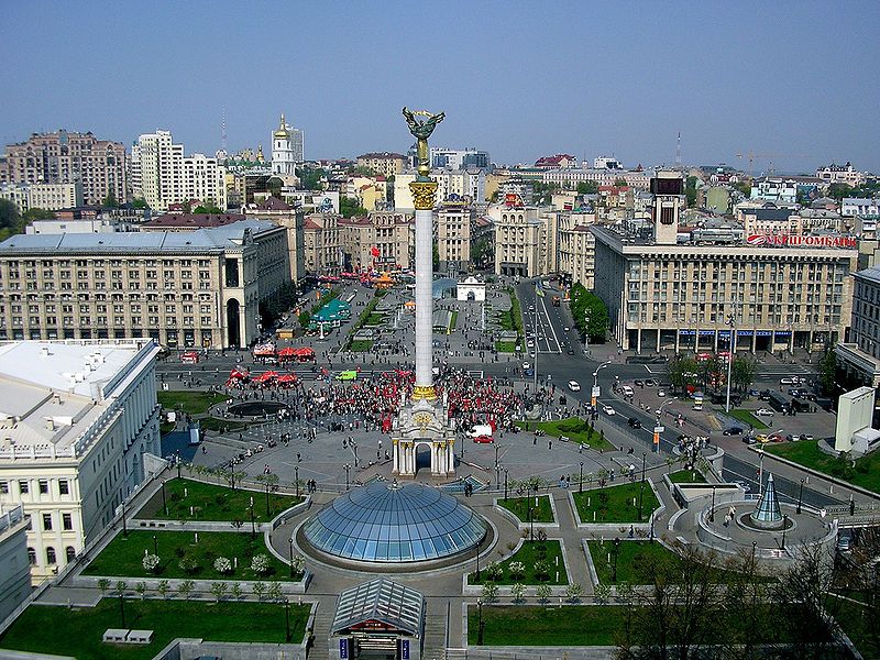 Kiev, Plaza de la Independencia ( Fuente: wikipedia )