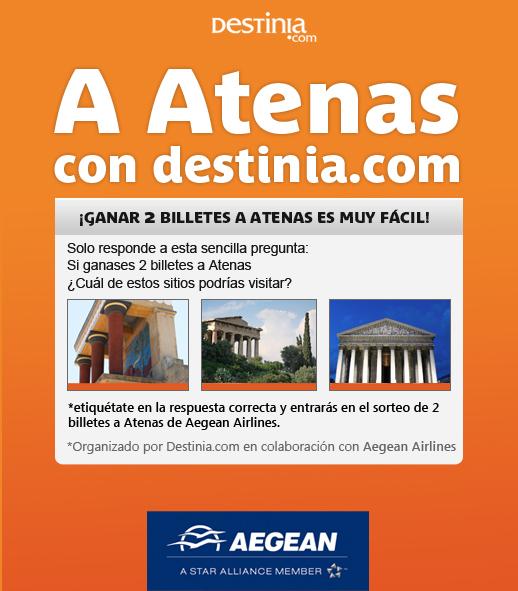 "Ganadora del Concurso ""Destinia.com - Aegean Airlines""  2"