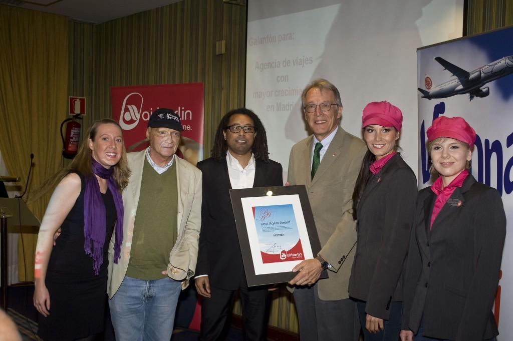 """Destinia.com """"Best Agent Award 2010"""" de Airberlin 2"""