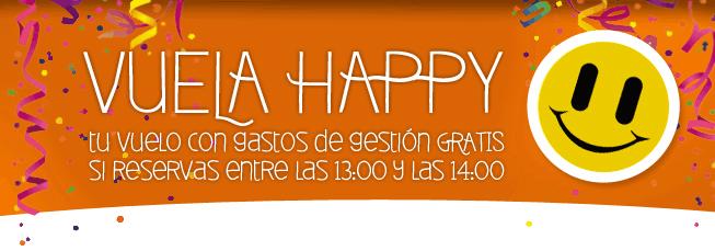 """Gastos de Gestión Gratis en la compra de todos los vuelos en el """"Happy Hour"""" de Destinia.com 2"""