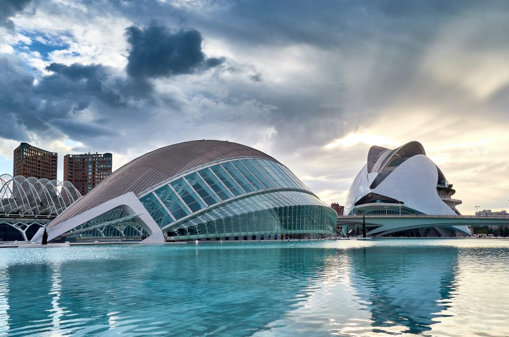 La Ciudad de las Artes y las Ciencias de Valencia.