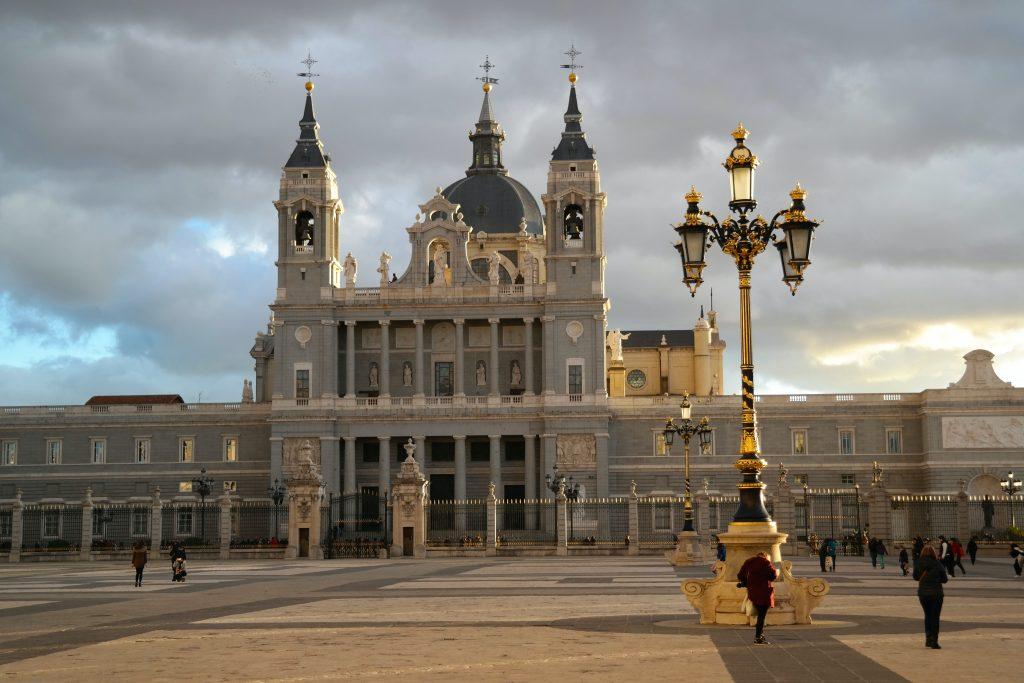 Entrada principal del Palacio Real de Madrid.