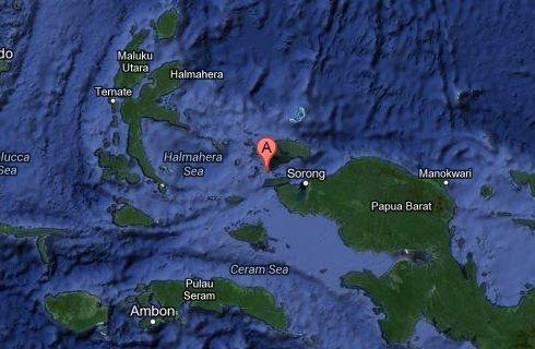Localización de Raja Ampat