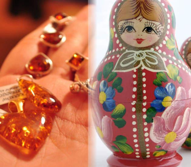 Ámbar de Polonia y muñeca rusa