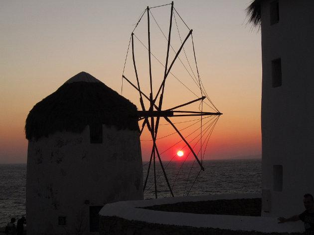 Atardecer en Mikonos, Grecia
