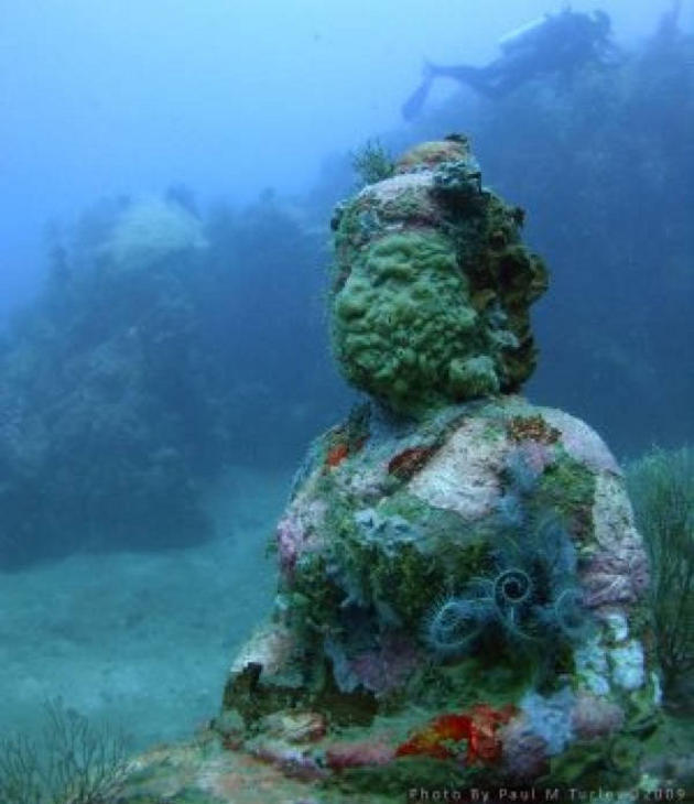 Ruinas submarinas de Mahabalipuram, en la India