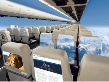 """طائرات بدون نوافذ"""" ثورة جديدة في عالم الطيران """""""