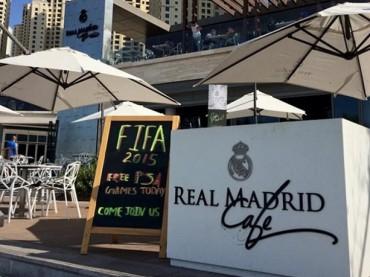 فريق ريـال مدريد يفتتح رسمياً ريـال مدريد كافيه في دبي