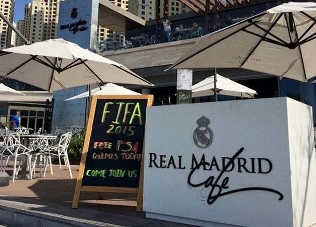 فريق ريـال مدريد يفتتح رسمياً ريـال مدريد كافيه في دبي 1
