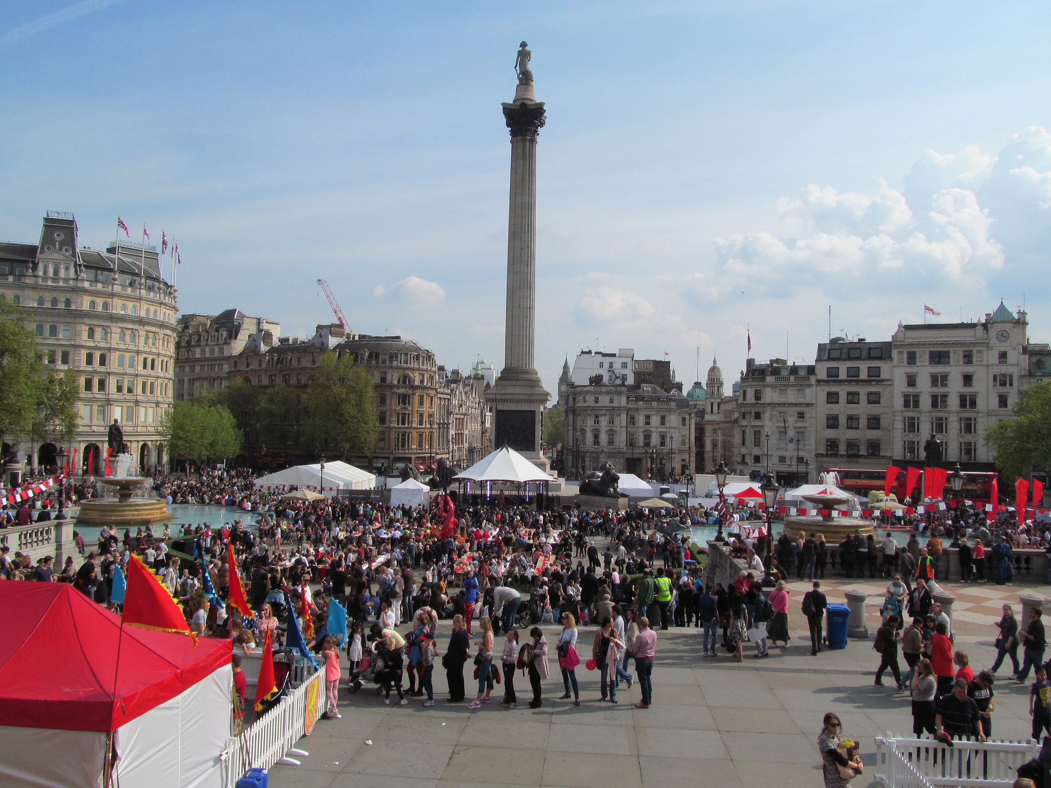 Flickr: David Holt. Easter Monday London 2014 Feast of St George Trafalgar Square.