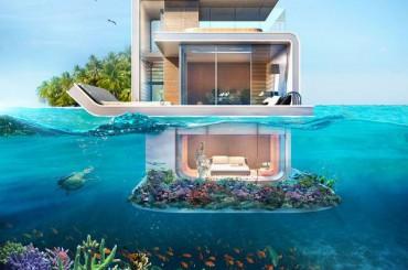 مشروع دبي القادم .. منازل عائمة طابقها السفلي تحت الماء بدون ستائر