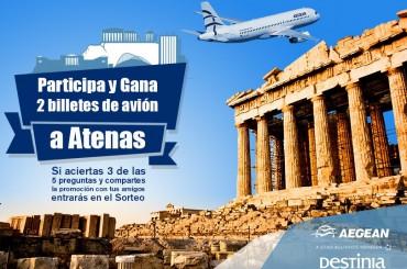 Déjate enamorar por Grecia de la mano de Destinia.com y Aegean Airlines