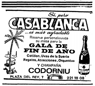 Casablanca Madrid 1972