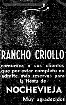Rancho Criollo, Madrid 1972