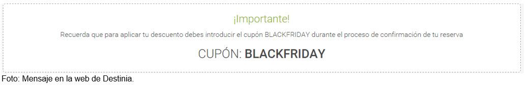 mensaje cupon BlackFriday