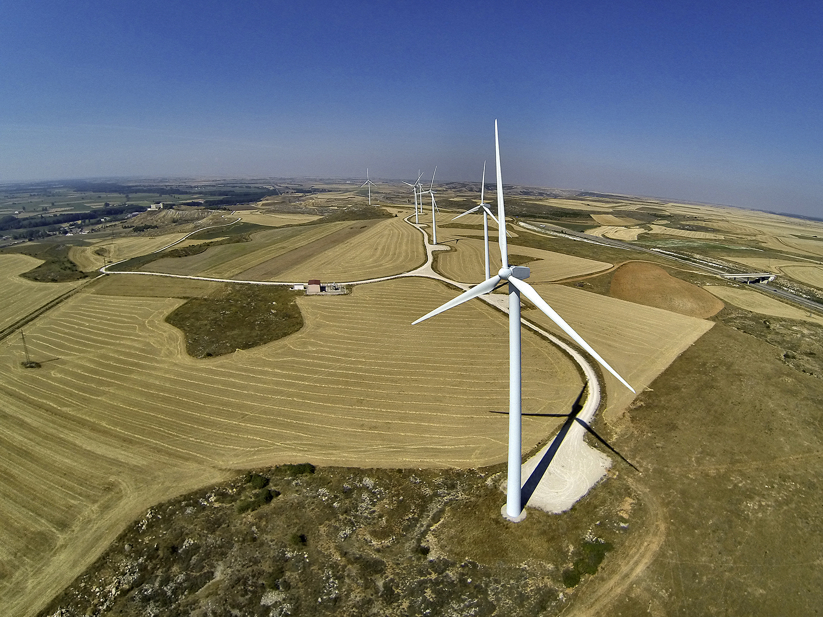 Campos de Palencia-dron