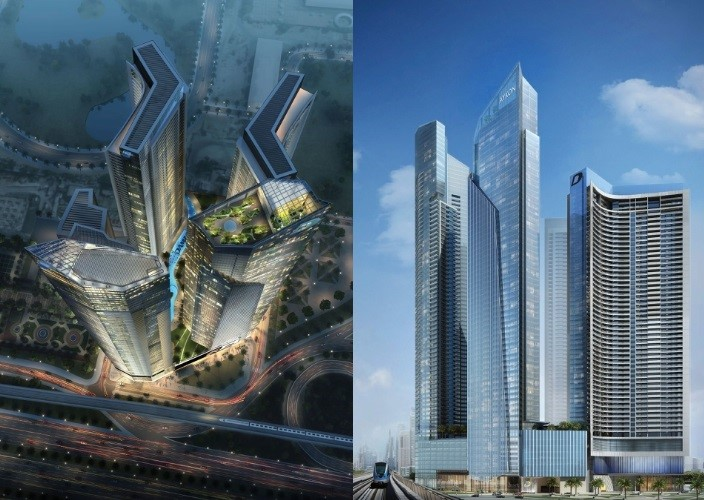 AYKON City will join other iconic developments in the golden quadrant Dubai such as City Walk, the Burj Khalifa, Emirates Towers and the DIFC (PRNewsFoto/DAMAC Properties)