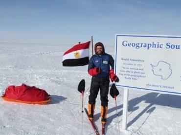 عمر سمرة المصري، أول مغامر بالعالم يتسلق 3 قمم جديدة في القارة القطبية