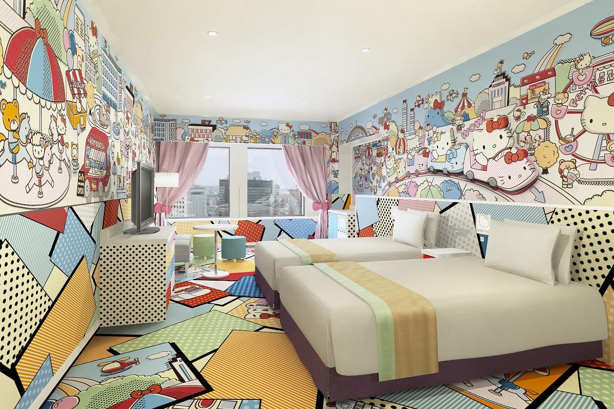 habitacion-del-hotel-keio-en-tokio-habitacion-de-hello-kitty