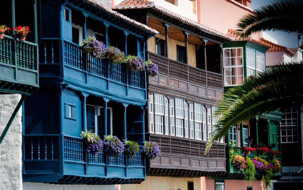Balcones pintorescos de La Palma