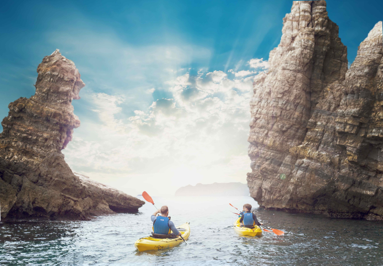 Kayak en la Costa de Murcia