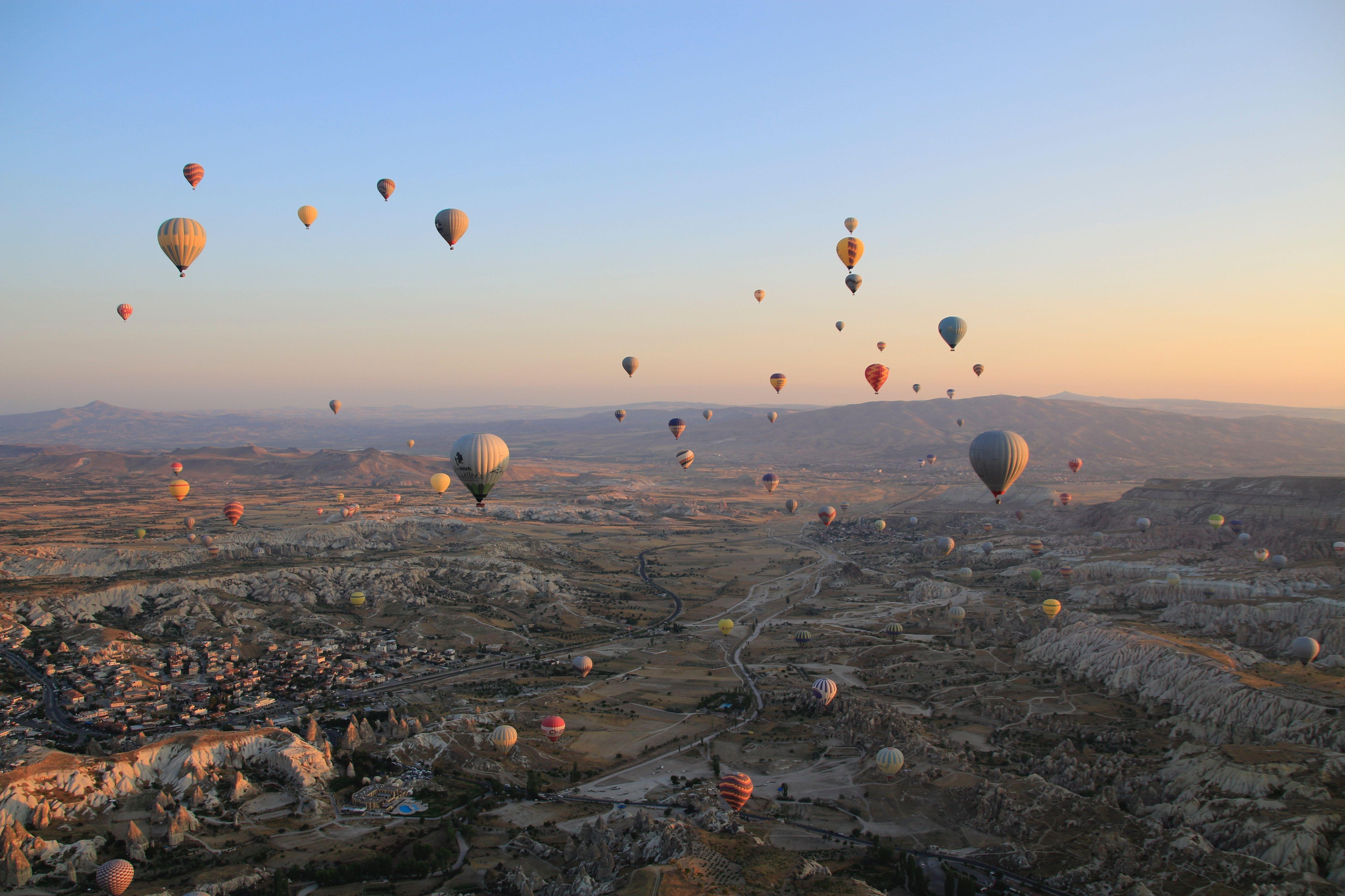 Paisaje maravilloso - Capadocia en Turquía