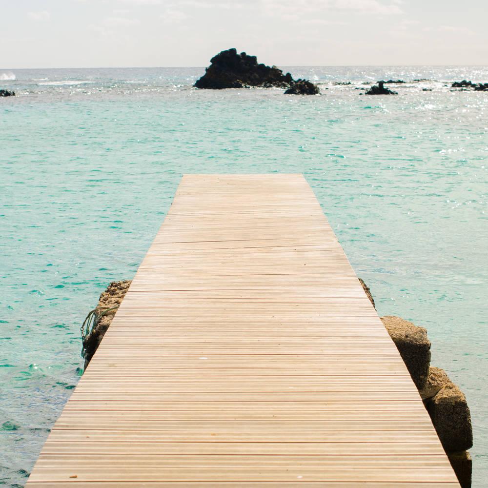 Mejores playas de fuerteventura - Muelle de la isla de los Lobos en Fuerteventura
