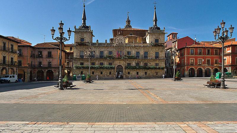 Plaza Mayor en la ciudad de León
