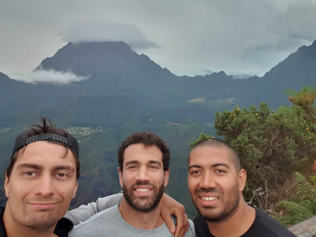 Paisaje montañoso de Isla Reunión.