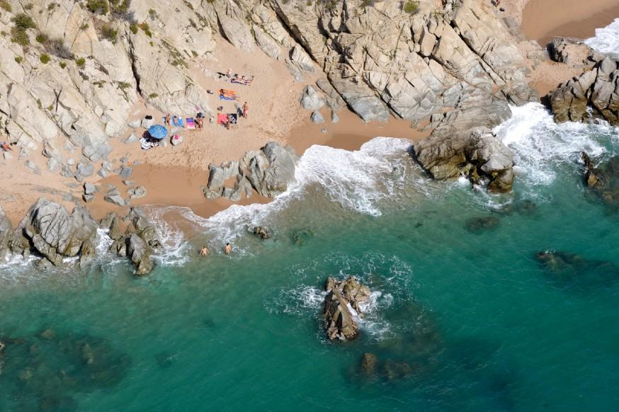 Playa naturista de Calella, comarca del Maresme