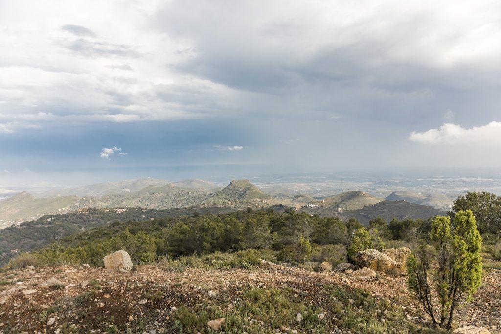 Vista de la Sierra de Calderona, ruta de Valltorta de valencia