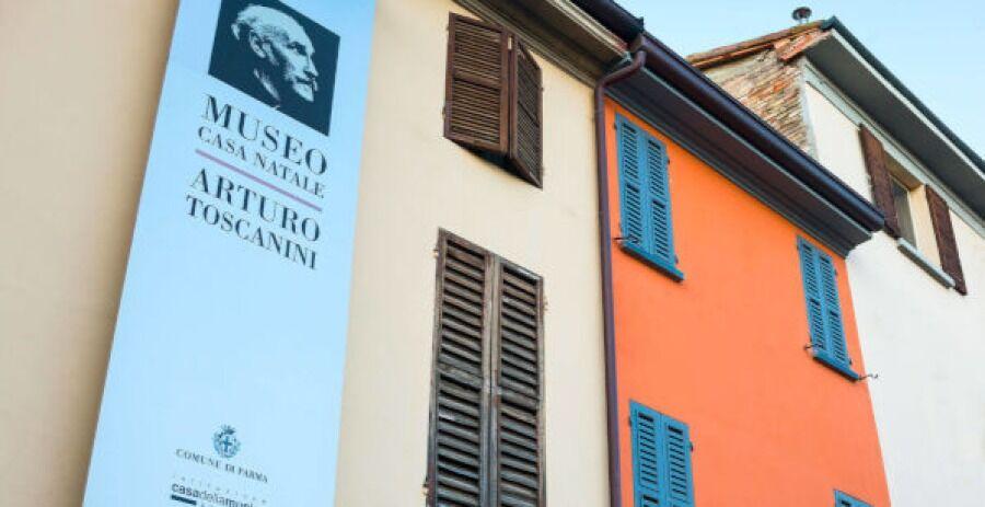 Fachada del Museo Toscanini, Parma.
